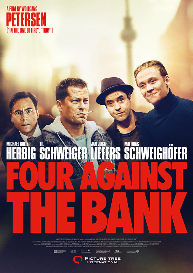 Poster FOUR AGAINST THE BANK<