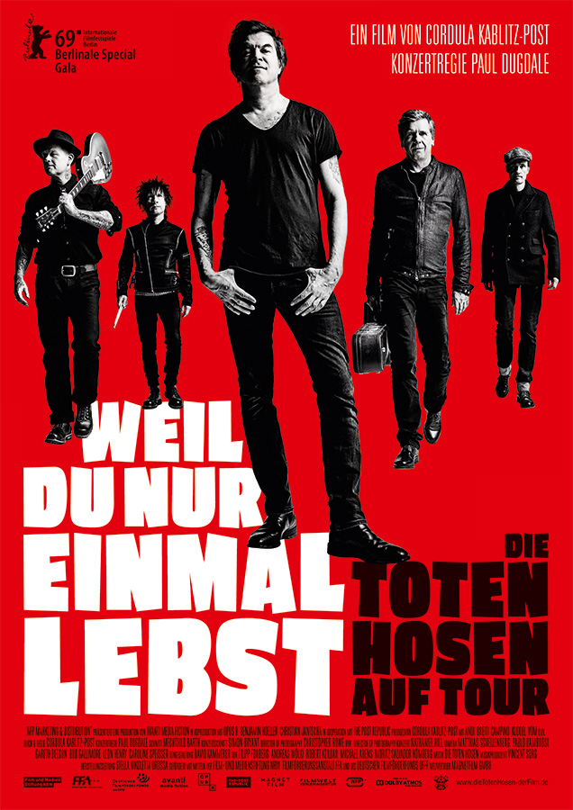 Poster DIE TOTEN HOSEN – YOU ONLY LIVE ONCE